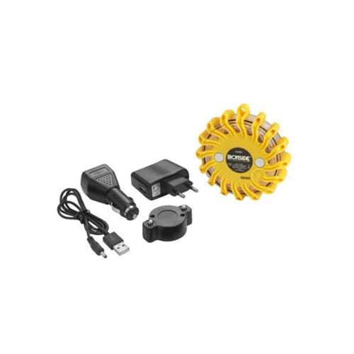 Vilkur magnetiga, kollane, Laetav, IP66 120lm  ø110 x 35mm, max 1000m, tööaeg 8-38h, 9 režiimi 422083