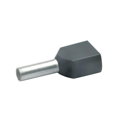 Otsahülss isoleeritud 2x1,5mm2/12mm, must, 100tk pakis KLAUKE