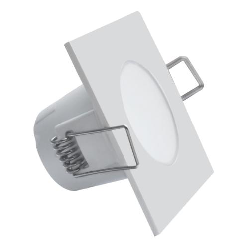 Süvisvalgusti LED BONO-S 5W valge kandiline, 330lm, 3000K, IP65, 220V, Greenlux
