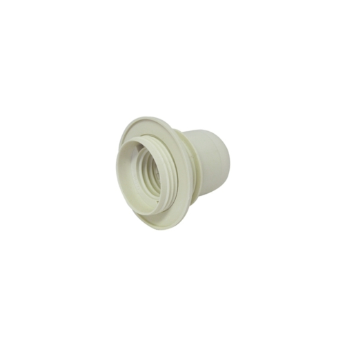 Lambipesa E27 plastik rõngaga, valge