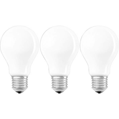 Led-lamp E27, 7W, 806lm, 2700K, 3 pakk, retro matt, Osram