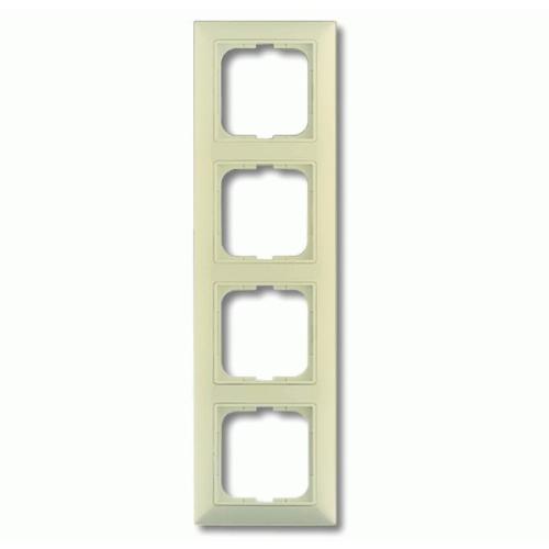 4-ne raam, valge (beež) dekoratiivraamiga Basic55