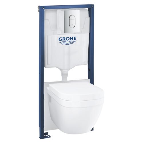 Rapid SL+ Euro seina WC rimless, SC prill-laud, loputusnupp Arena kroom