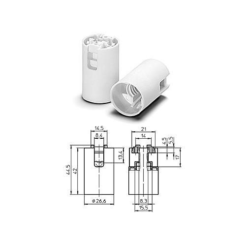E14 lambipesa-sokkel sile valge, Vossloh-Schwabe