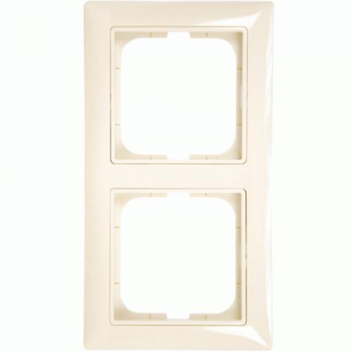 2-ne raam, valge (beež) dekoratiivraamiga Basic55