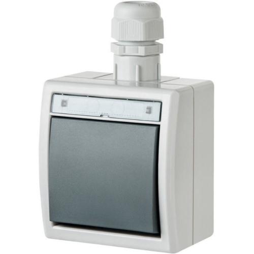 Pinnapealne veksellüliti, IP65, valge, Elektro-Plast Aquant