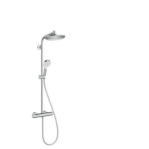 Termostaadiga dušisüsteem Showerpipe Crometta 240mm, kroom