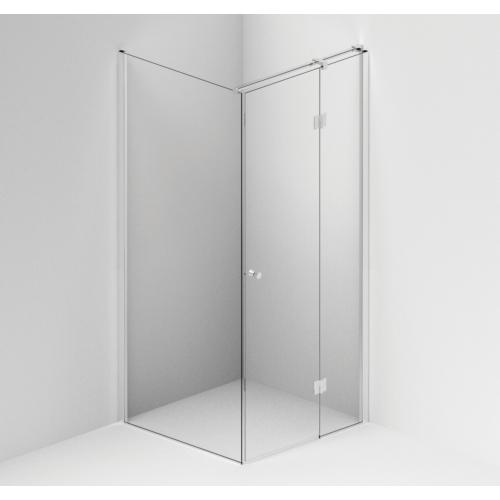 Fikseeritud sein FormPlus 90*200 cm, matthõbedane profiil