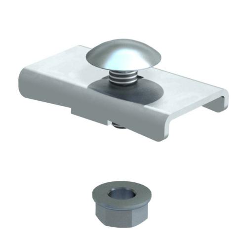 Fiksaator redelile h=45mm ja h=60mm, 40x22, St, FS, OBO
