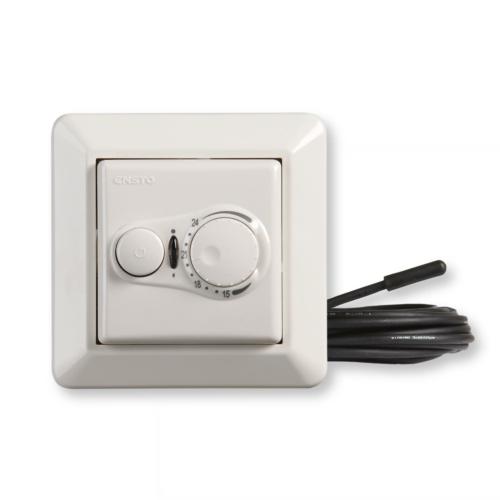 Põrandaküttetermostaat 16A põranda- ja ruumianduriga Bluetooth juhitav, Elko raamis, Ensto