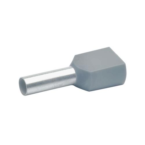 Otsahülss isoleeritud 2x4mm2/12mm, hall, 100tk pakis KLAUKE