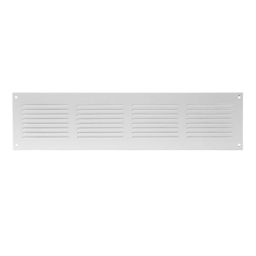 Ventilatsioonirest 400x100 valge metall