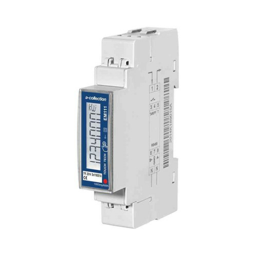 Elektriarvesti EM111, 1 faasiline, 2-tariifne, impulss väljund, MID sert, DIN-liistule, A-Collection
