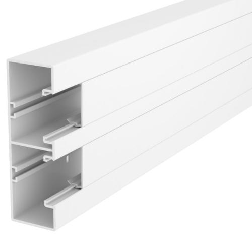 Seadmekarbik Rapid45-2, 53x165x2000, PVC, polaarvalge, 2 osaline, OBO GK-53165RW