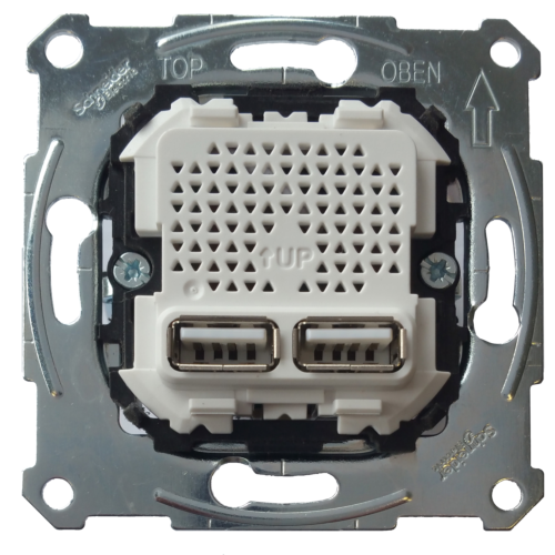 2-ne USB pesa sisu, 2,1A/1,05A, Schneider Merten System M