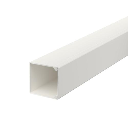 Karbik kaanega 25x25mm L=2000mm PVC polaarvalge, OBO