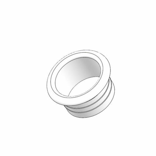 Alumiiniumtoru otsakork 40mm valge, plastik