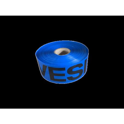 Hoiatuslint sinine VESI 100mm 500m/rull