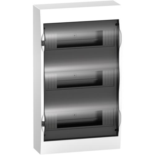Jaotuskilp pinnapealne 36 moodulit, uks suitsuklaas IP40 plast