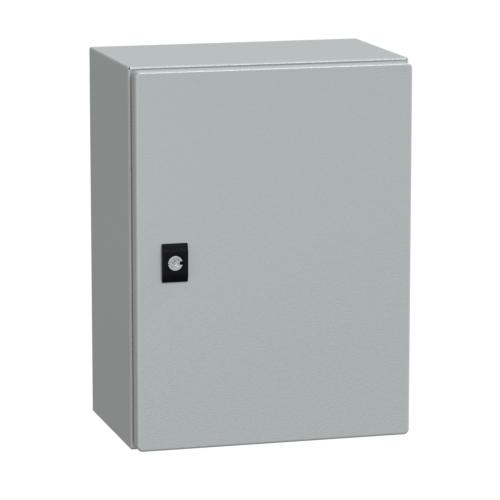 Pinnapealne metallist kilbikest 400x300x200mm, montaaziplaadiga, IP66, Schneider