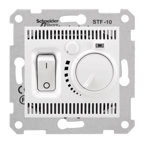 Termostaat põrandaküttele 10A-230V valge Sedna