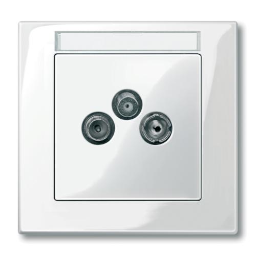 Keskplaat TV/R(SAT), polaarvalge, Schneider Merten System M