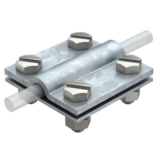 Ristühendusklemm ümar- ja ribajuhile 8-10mm, St, FT, OBO