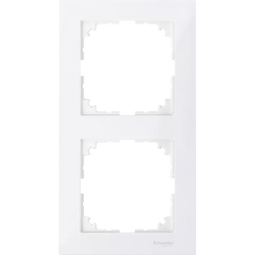 2-ne raam, polaarvalge, Schneider Merten System M M-Pure