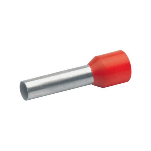 Otsahülss isoleeritud 10mm2/12mm, punane, 100tk pakis KLAUKE