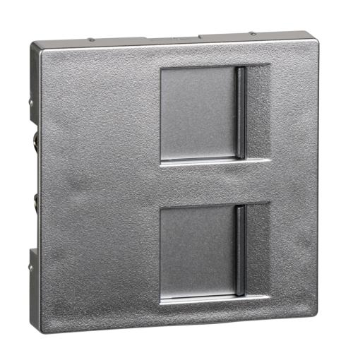 Keskplaat 2xRJ45 AMP, alumiinium, Schneider Merten System M