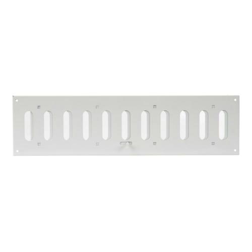 Ventilatsioonirest 400x100 reguleeritav valge metall