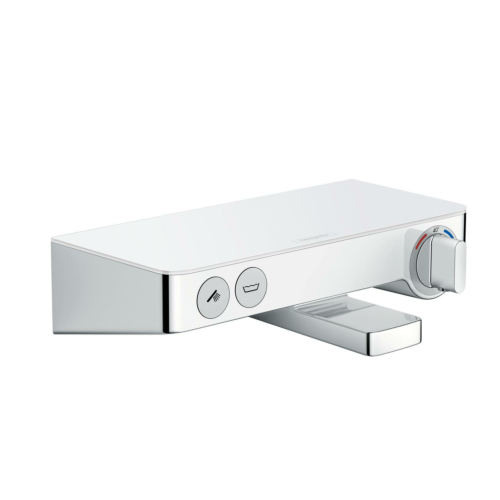Termostaadiga vannisegisti Tablet Select 300, valge/kroom