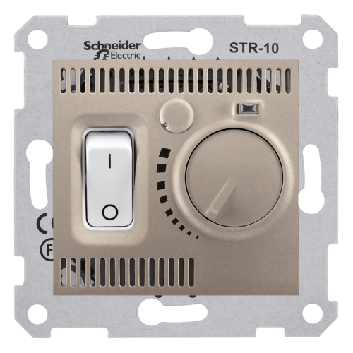 Termostaat ruumi 10A-230V titaan Sedna