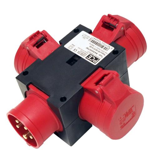 Vooluvõtujagur, sisend 5P 32A, välja 3x 5P/32A, PCE