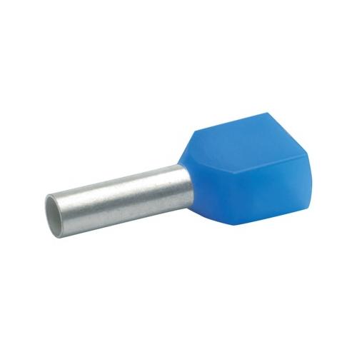 Otsahülss isoleeritud 2x2,5mm2/10mm, sinine, 100tk pakis KLAUKE