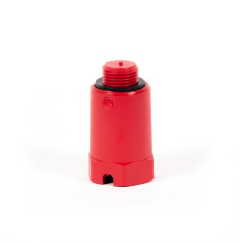 """Montaažikork 1/2"""" Punane plastik keermega"""