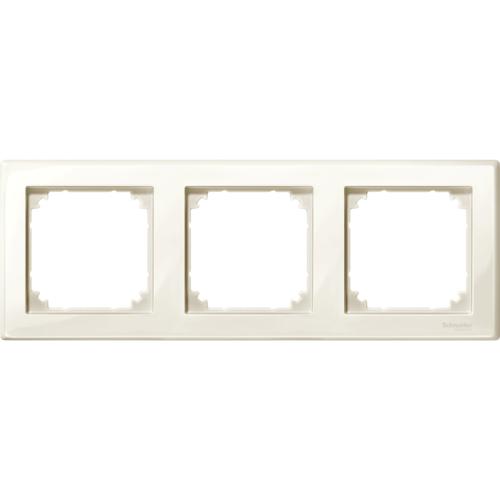 3-ne raam valge M-Smart Merten System M