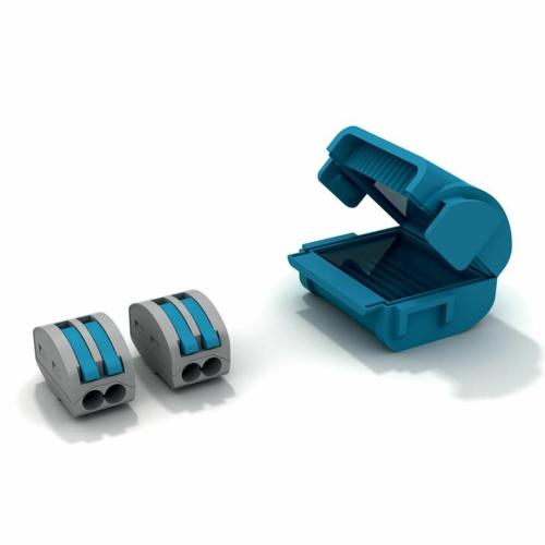 Geeltäidisega muhv SHELLBOX222, 1tk blisteris + 2tk 2-ne klemm 0,2 - 4mm², Etelec