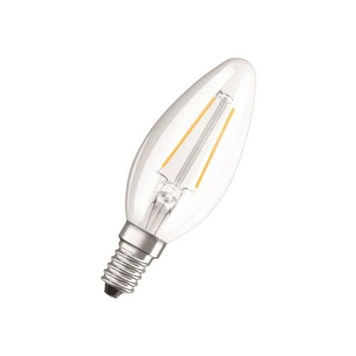 Led-lamp E14 4W, 470lm, 2700K, küünal, klaar retro, Osram