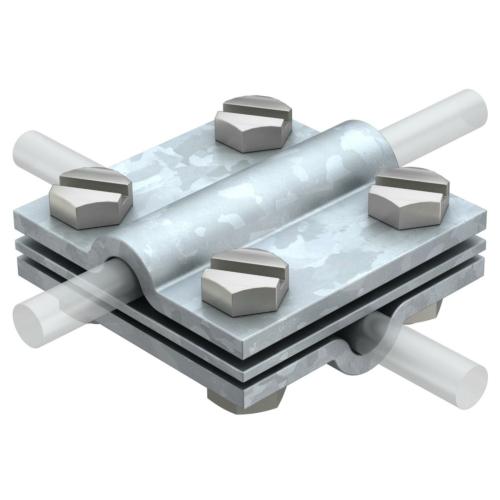 Ristühendusklemm ümarjuhile , vaheplaadiga 8-10mm, St, FT, OBO