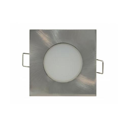 Süvisvalgusti LED BONO-S 5W matt kroom kandiline, 330lm, 3000K, IP65, 220V, Greenlux