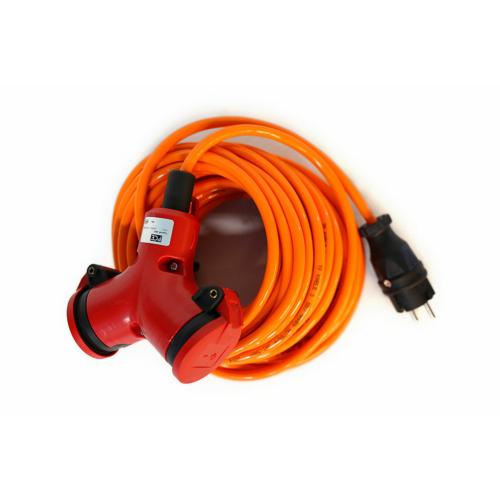 Jätkupikendus H07BQ-F 3G1,5, 15m, 2 pesa, oranž kaabel, Feirol
