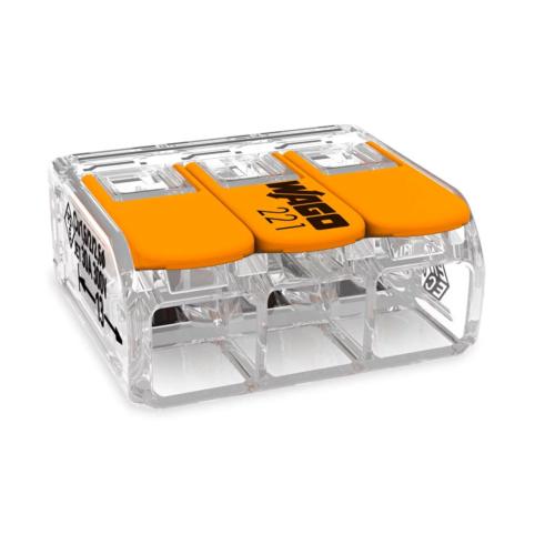 Klemm Wago 3-ne avatav 0,5-6mm² 30tk pk läbipaistev