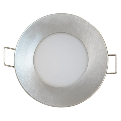 Süvisvalgusti LED BONO-R 5W matt kroom ümar, 330lm, 3000K, IP65, 220V, Greenlux