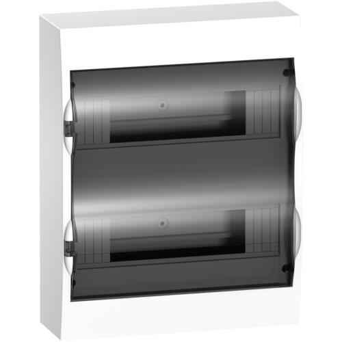 Jaotuskilp pinnapealne 24 moodulit, uks suitsuklaas IP40 plast