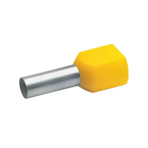 Otsahülss isoleeritud 2x6mm2/14mm, kollane, 100tk pakis KLAUKE