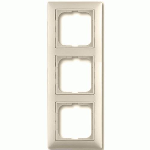 3-ne raam, valge (beež) dekoratiivraamiga Basic55