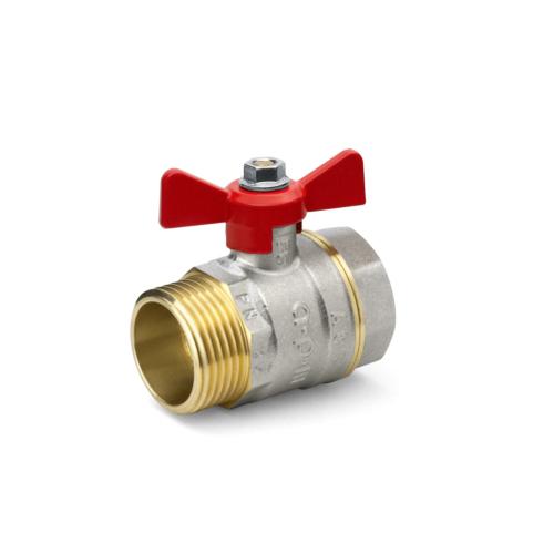 "Kuulkraan 1/2"" SK/VK standard ava PN25 130°C liblik käepide"