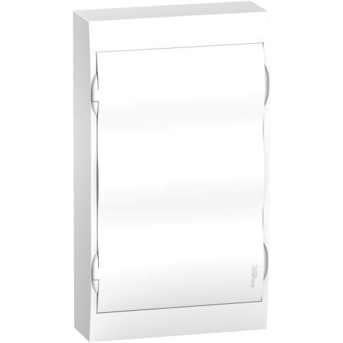 Jaotuskilp pinnapealne 36 moodulit, uks valge IP40 plast