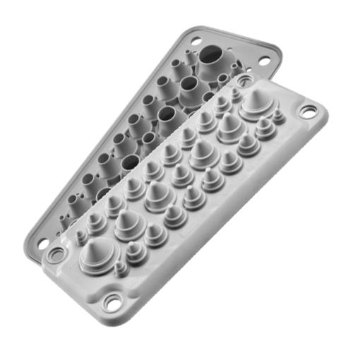 Multiläbiviiguplaat MC25/27, FL21 avale, 27 sisendit, IP67, hall, Morek